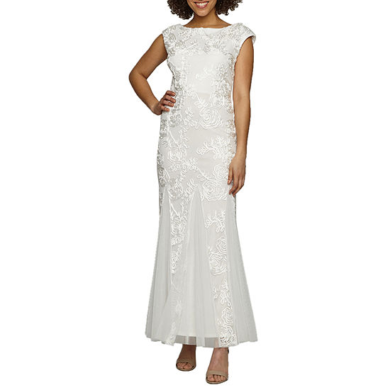 Onyx Cap Sleeve Embroidered Bridal Gown