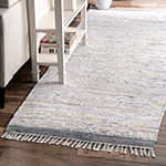 nuLoom Cotton Chindi Fringe Flatweave Area Rug