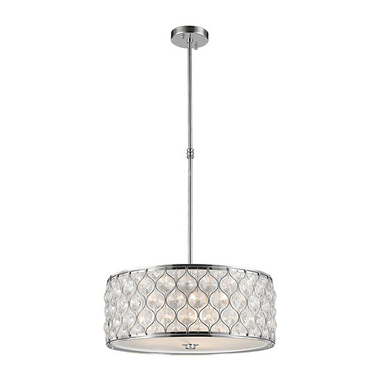 """Paris Collection 5 Light Chrome Finish with Clear Crystal Pendant D20""""H8"""""""