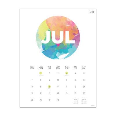 Tf Publishing Paint Circle Large Art Wall Calendar