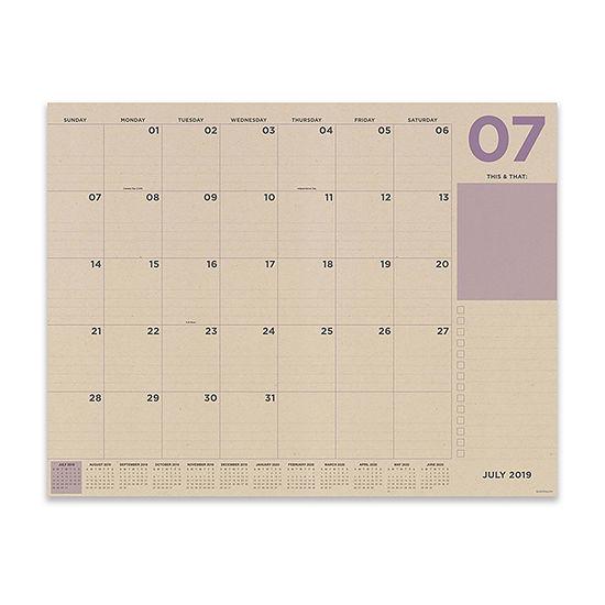 Tf Publishing Kraft Numeric Large Desktop Calendar