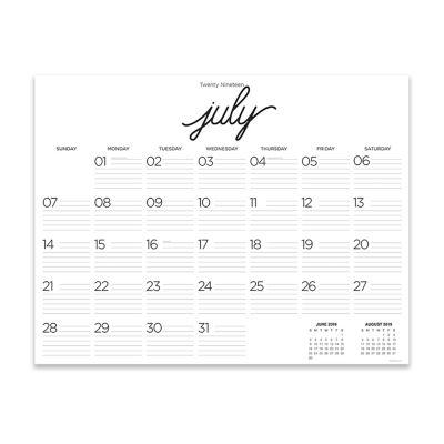 Tf Publishing Calligraphy Large Desktop Calendar