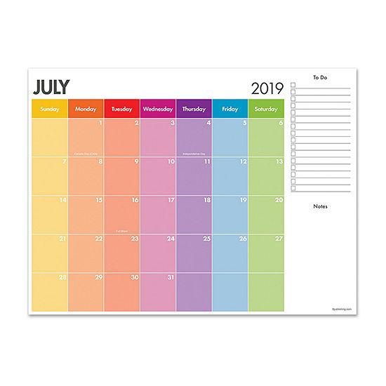 Tf Publishing Rainbow Stripes Mini Desktop Calendar