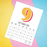 Tf Publishing Numbers Mini Art Wall Calendar