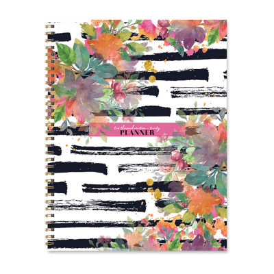 Tf Publishing Striped Floral Large Weekly Monthly Planner