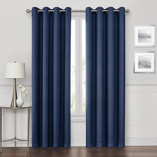 Maxx Blackout Prescott 100% Blackout Grommet-Top Single Curtain Panel