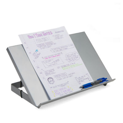 Mind Reader Metal Resting Document Holder Easel, Silver