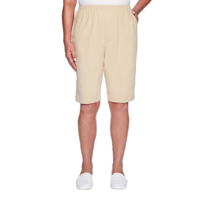Alfred Dunner Classics Womens Pull-On Short