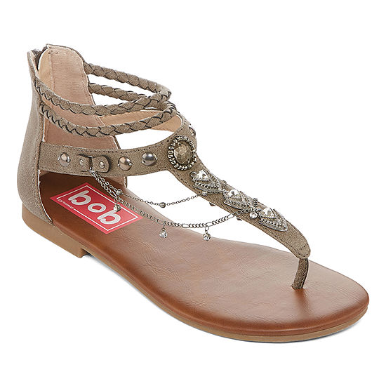 Pop Womens Amica Ankle Strap Flat Sandals