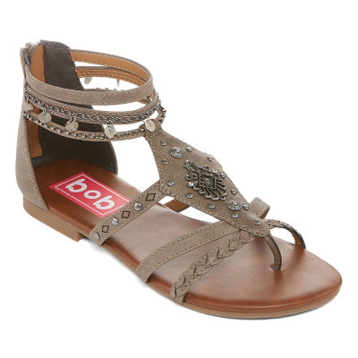 Pop Womens Chile Ankle Strap Flat Sandals