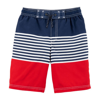 Carter's Boys Striped Swim Trunks-Preschool