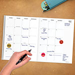 Tf Publishing Surf Waves Medium Monthly Planner