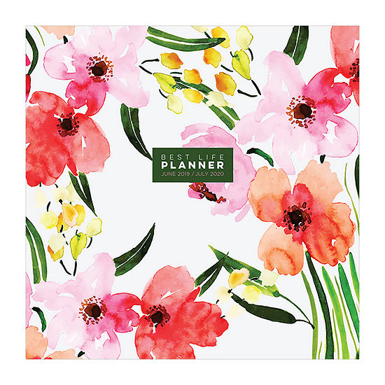Tf Publishing Watercolor Flowers Large Monthly Planner