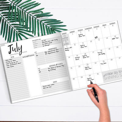 Tf Publishing Best Palms Large Monthly Planner