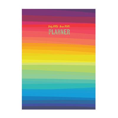 Tf Publishing Rainbow Stripe Medium Monthly Planner