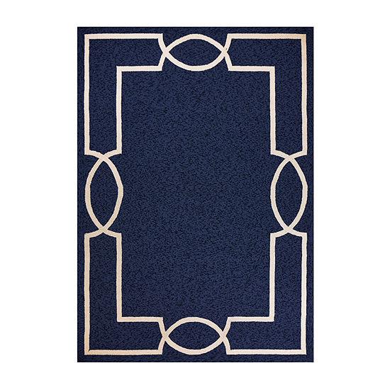 Kas Hampton Madison By Libby Langdon Hooked Rectangular Indoor/Outdoor Rugs