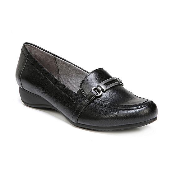 Lifestride Womens Demure Slip-on Round Toe Loafers