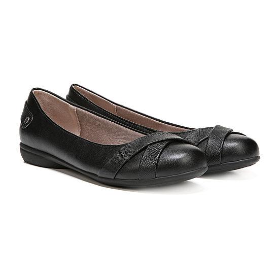Lifestride Womens Adalene Slip-on Round Toe Ballet Flats