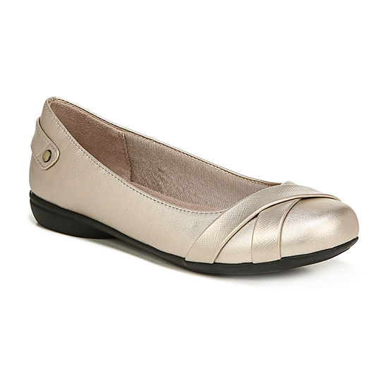 Lifestride Womens Adalene Slip-on Round Toe Ballet Flats