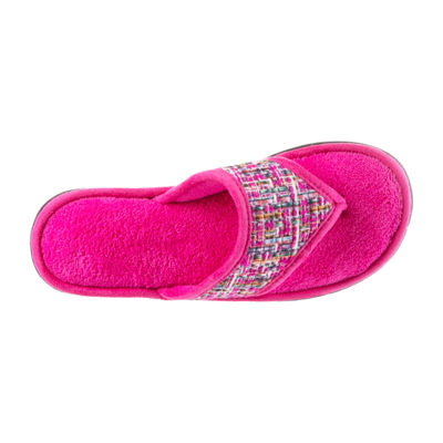 Isotoner Tweed Thong Slip-On Slippers
