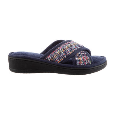 Isotoner Tweed X Slide Slip-On Slippers
