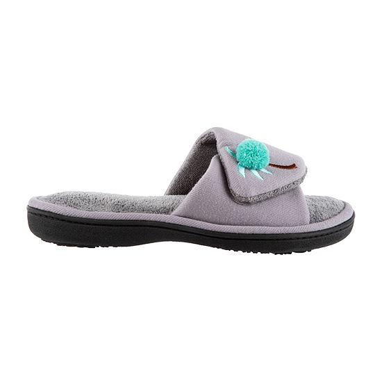 Isotoner Twill Adjustable Slide Slip-On Slippers