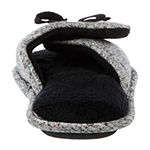 Isotoner Speckled Knit Slide Womens Slip-On Slippers