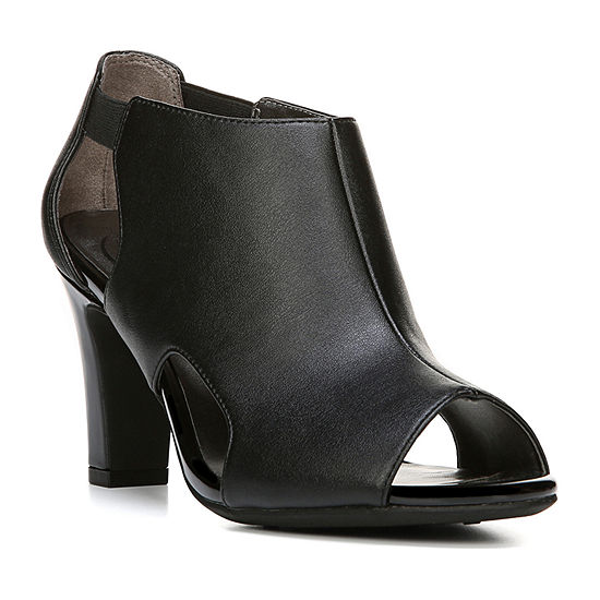 Lifestride Womens Cala Pull-on Peep Toe Block Heel Pumps