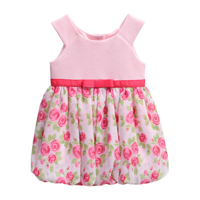 Young Land Bubble Sleeveless Romper - Baby Girls