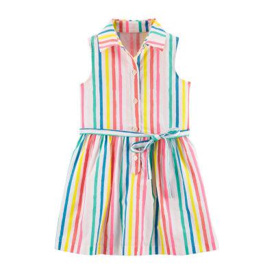 Carter's Sleeveless Shirt Dress - Toddler Girls