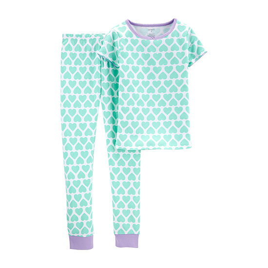 Carters 2 Pc Pajama Set Preschool Big Kid Girls