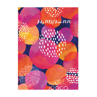 Tf Publishing Pink Pattern Medium Monthly Planner