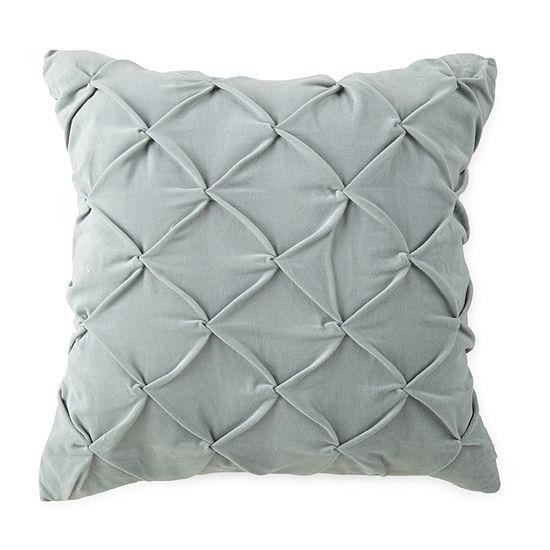 JCPenney Home Velvet Tuck Square Throw Pillow
