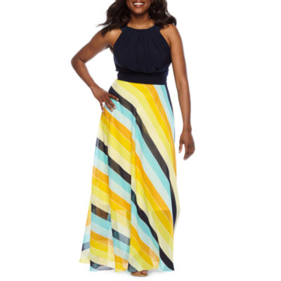 Studio 1 Sleeveless Striped Maxi Dress