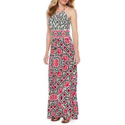 London Style Sleeveless Floral Maxi Dress