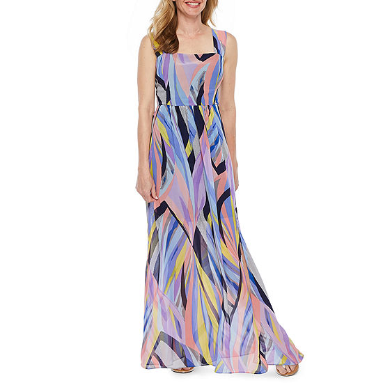 e08624f8fc2 Nicole Miller Sleeveless Abstract Maxi Dress - JCPenney
