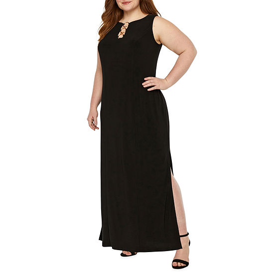 MSK Sleeveless Maxi Dress-Plus