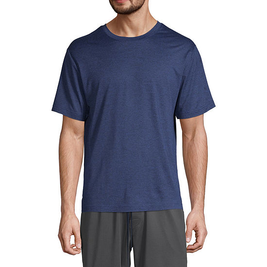 Stafford Dry+Cool Mens Pajama Top Short Sleeve
