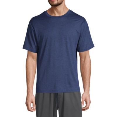 Stafford Dry+Cool Mens Pajama Top Short Sleeve - Big and Tall