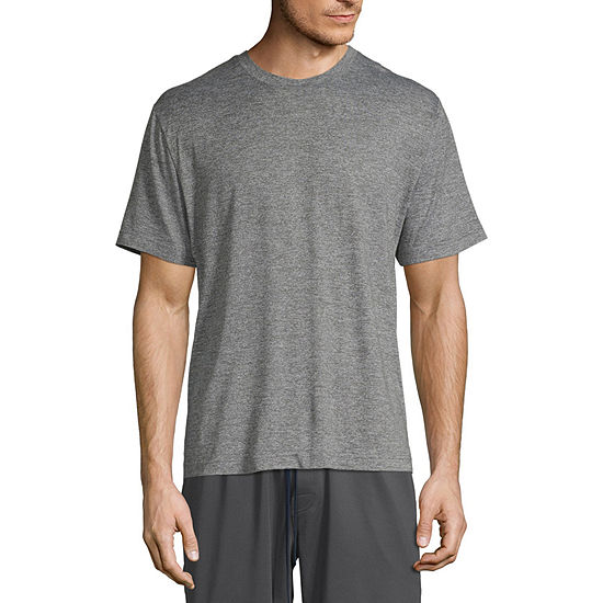 Stafford Dry+Cool Mens Pajama Top Short Sleeve - Big and Tall