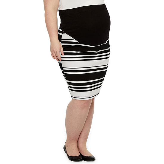 Belle & Sky Maternity Pencil Skirt - Plus