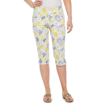 Hearts Of Palm Sunny Side Up High Waisted Capris