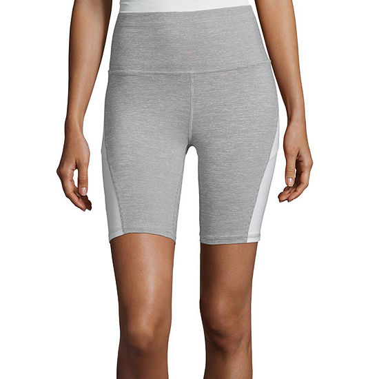 Xersion Colorblocked Bike Short Womens Mid Rise 3 3 4 Running Short