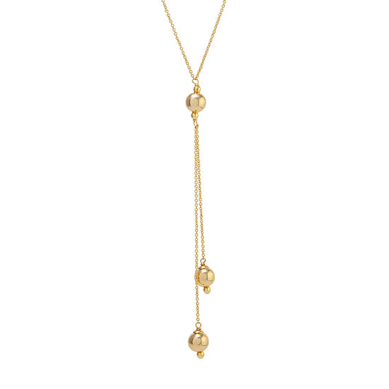 Silver Reflections 24K Gold Over Brass 24 Inch Cable Pendant Necklace