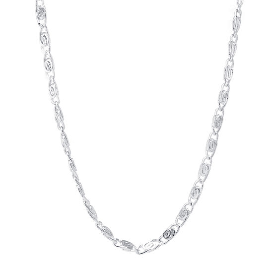 Silver Reflections Pure Silver Over Brass 18 Inch Link Chain Necklace