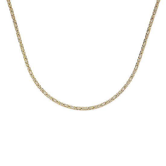 Made in Italy 14K Two-Tone Gold 080 Solid Byzantine Chain Necklace