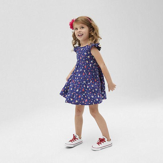 Okie Dokie - Toddler Girls Short Sleeve Shift Dress