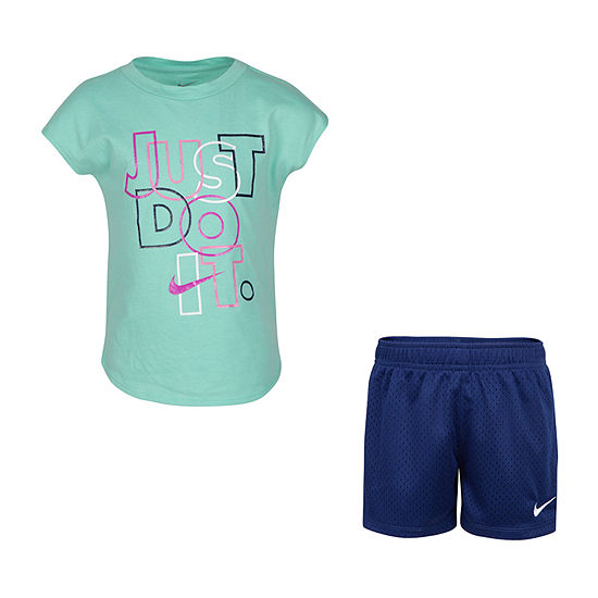 Nike Girls 2-pc. Short Set Little Kid