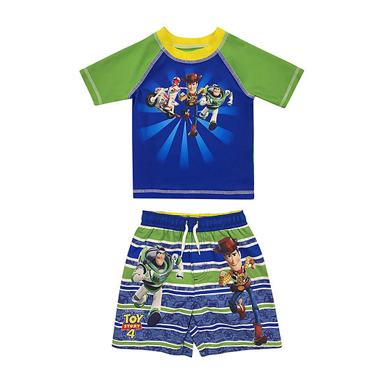 Disney - Toddler Rash Guard Set