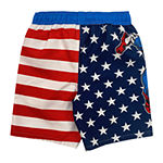 Marvel Little Kid / Big Kid Boys Captain America Swim Trunks